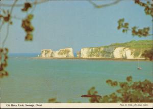 Dorset Swanage old Harry Rocks damaged