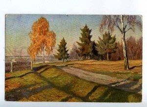 224031 RUSSIA Germashev Late Autumn Lenz #36 vintage postcard