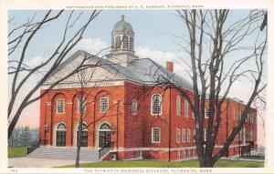 Plymouth Massachusetts~Plymouth Memorial Building~1910 Detroit Pub Co Postcard