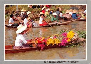 Thailand Floating Market Flowers Boat Poe Canal Ayuthaya