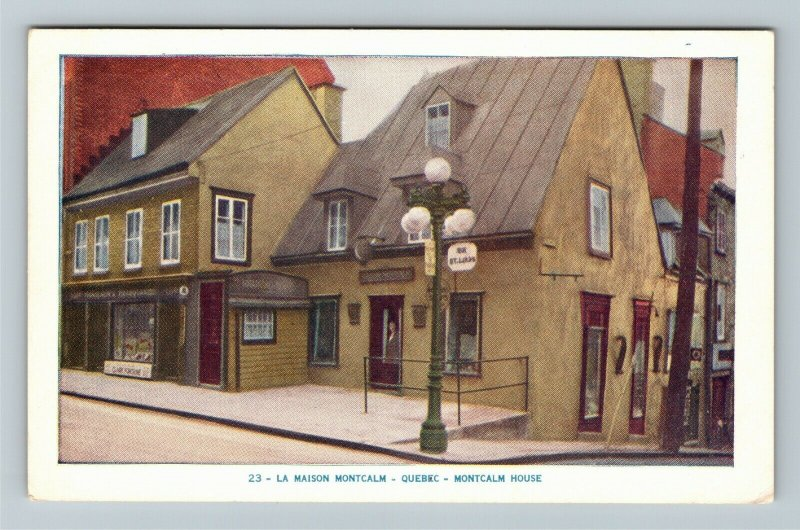 Quebec-Canada, Montcalm House, Vintage Postcard