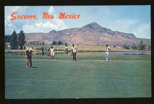 Socorro, New Mexico/NM Postcard, Beautiful Golf Course At Foot Of M Mountain