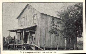 Christmas FL Post Office c1915-20s Postcard