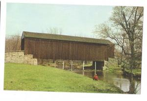 Covered Bridge Postcard Pennsylvania Pine Valley New Britain