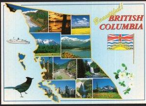 Canada Beautiful British Columbia ~ MAP - MultiView - Cont'l