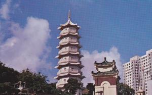 Tiger Balm Gardens, Seven Storeyed Pagoda, HONG KONG, China, 50-70's