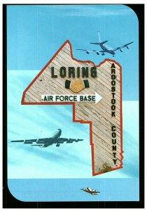 Loring Air Force Base Aroostook County, Maine Postcard