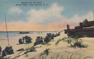 CAMP LEJEUNE, North Carolina, 1930-1940's; Marines Hit The Beach, Marine Base