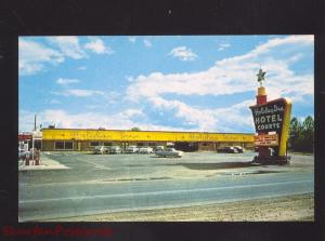 MEMPHIS TENNESSEE HOLIDAY INN COURTS MOTEL 1950's CARS ADVERTISING POSTCARD