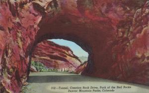 Tunnel, Creation Rock Drive, Park of the Red Rocks, Denver Mountain Parks, DE...