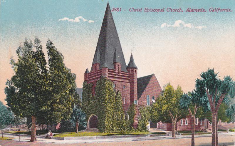 Street view, The Christ Episcopal Church,  Alameda,  California,  00-10s