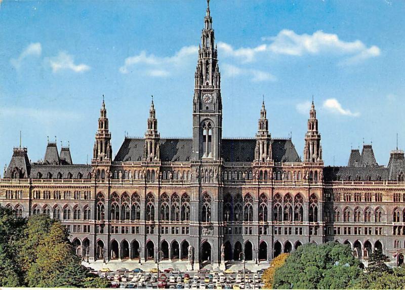 Wien Rathaus Vienna City Hall Front view Hotel de Ville Voitures Auto Cars