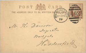Entier Postal Stationery Postal Britain Great Britain 1 / 2p 1879 Manchester