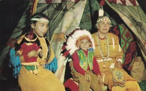 Greetings from LAC DE FLAMBEAU, Wisconsin, 1940-60s; Native American Indians