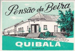 Angola Quibala Pensao da Beira Vintage Luggage Label lbl0408