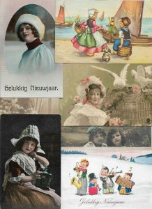 Cute Kids Fantasy Vintage Postcard Lot of 20   01.16