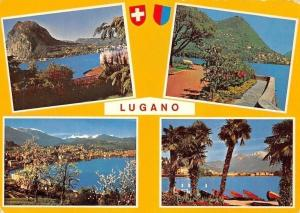 Switzerland Saluti da Lugano Lake General view Panorama Lac