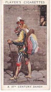 Cigarette Card Player's Dandies No 7 A 15th Century Dandy