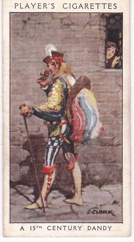Cigarette Card Player's Dandies No 7 A 15th Century Dandy