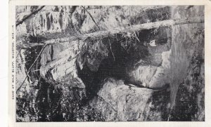 Vintage Fotografia Foto Cartolina Postale Caverna Presso Mile Bluff Mauston, Wis