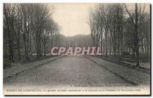 Old Postcard Compiegne Foret De La Grande Avenue leading the Glade November 1...