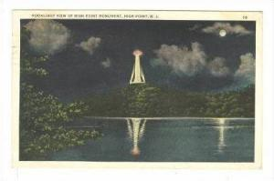 Moonlight View Of High Point Monument, High Point, New Jersey, PU-1934