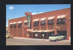 PANGUITCH UTAH HI-WAY 89 LODGE MOTEL 1950's CARS OLD ADVERTISING POSTCARD