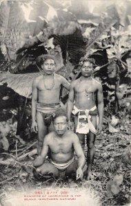 br106374 manners of aborigines in yap island Caroline Islands micronesia