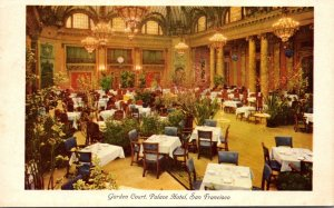 California San Francisco Palace Hotel Garden Court 1950