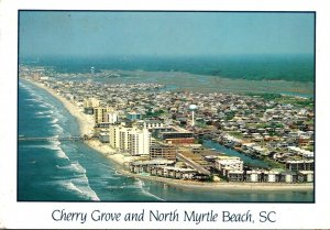 South Carolina North Myrtle Beach Aerial View Of Cherry Grove 1989