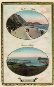 TUCK: TEIGNMOUTH, PU-1923; Double Marble Glosso, Terrace Walk, Shaldon Bridge