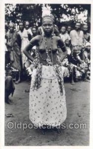 African Nude 1952 postal used unknown