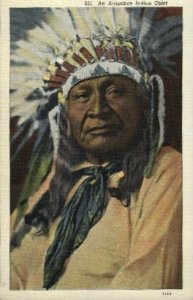 An Arapahoe Indian Chief Indian Unused