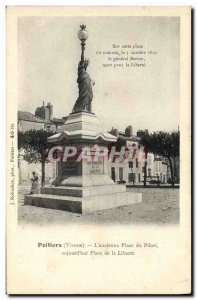 Old Postcard Statue of Liberty Poitiers L & # 39ancienne instead pillory aujo...