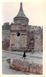 Jordan Old Vintage Antique Post Card Tomb of Absalom Jerusalem Non Postcard B...