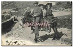Old Postcard The Martyrdom of Thermal Stations Ane Children