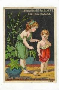 TC  Roman Toga clad kids,Metropolitan Life Insurance Co NYC 1890s