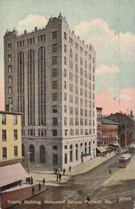 Maine Portland Fidelity Bank Building Monument Square 1911