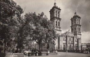 RP: PUEBLO , Pue. Mexico , 30-40s ; Jardin y Catedral