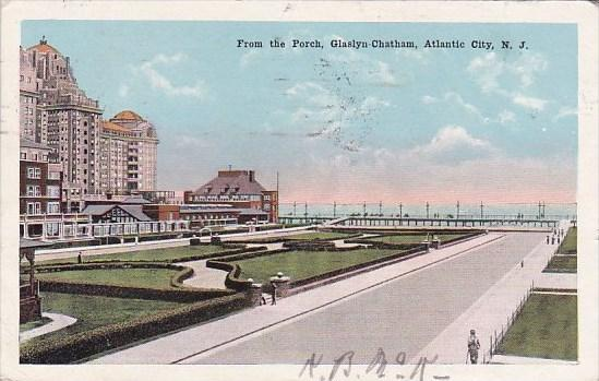 New Jersey Atlantic City From The Porch Glaslyn Chatham 1920