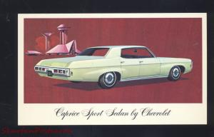 1969 CHEVROLET CAPRICE ATHENS OHIO PAGE CAR DEALER ADVERTISING POSTCARD CHEVY