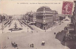 BORDEAUX, Les Allees de Tourny et le Cpurs du XXX Juillet, Gironde, France, P...