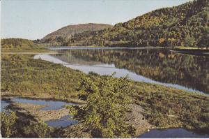 A Quiet Pool On The Restigouche River Below Matapedia From Gaspe Hwy., Quebec...