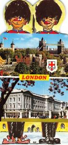 Large Format Die-Cut London Postcard, Scenes of London, Multiview NEW