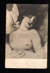 049798 Semi-Nude BELLE Lady w/ PIGEON vintage PC