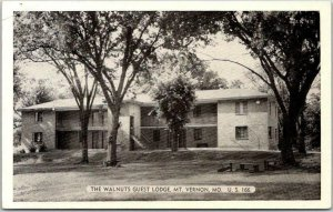 Mount Vernon, Missouri Postcard THE WALNUTS GUEST LODGE Motel Roadside c1950s