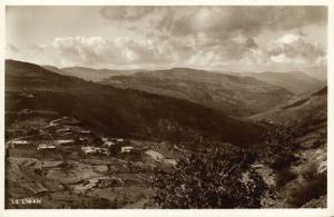 lebanon, LE LIBAN, Panorama (1950s) RPPC