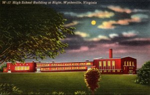 Virginia Wytheville High School Building At Night