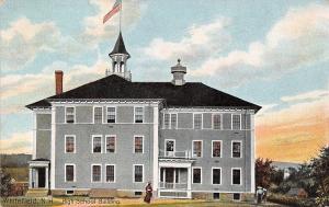 Whitefield NM~High School~Nice Belfry, Chimney~Tilted Porch c1910