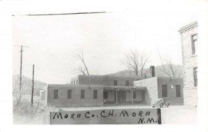 LPSS05 Mora New Mexico Mora County Court House Postcard RPPC
